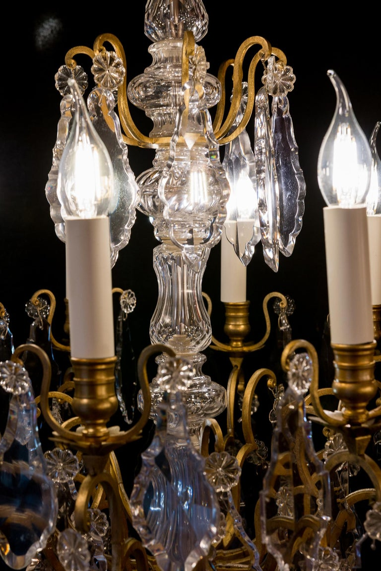 French Louis XVI Style Gilt-Bronze and Crystal Chandelier, circa 1890-1910 For Sale 5