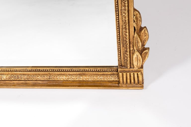 French Louis XVI Style Giltwood Beveled Mirror For Sale 1