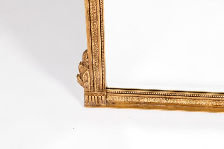 French Louis XVI Style Giltwood Beveled Mirror For Sale 5