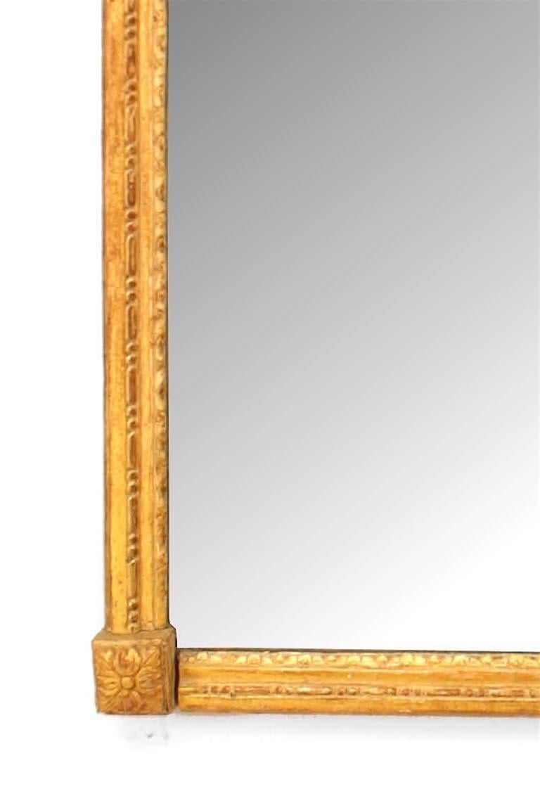 French Louis XVI Style Giltwood Wall Mirror In Good Condition For Sale In New York, NY