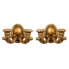French Louis XVI Style Giltwood Wall Sconces