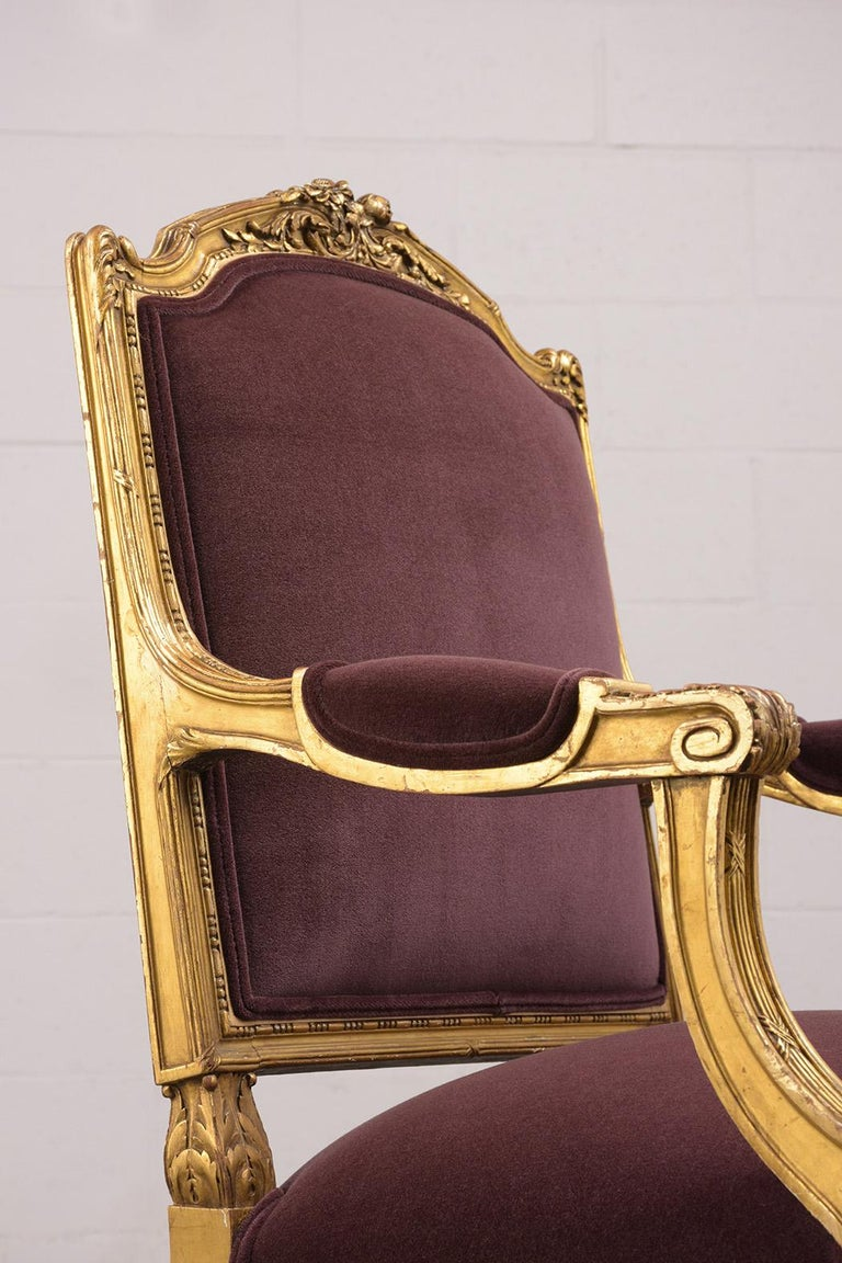 French Louis XVI Style Giltwood Bergères, circa 19th Century For Sale 6