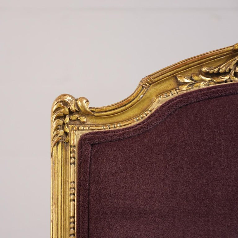 French Louis XVI Style Giltwood Bergères, circa 19th Century For Sale 7