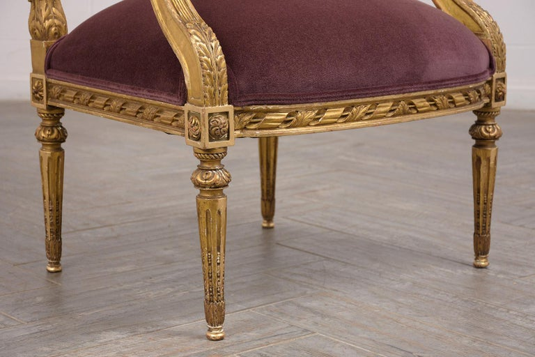 French Louis XVI Style Giltwood Bergères, circa 19th Century For Sale 1