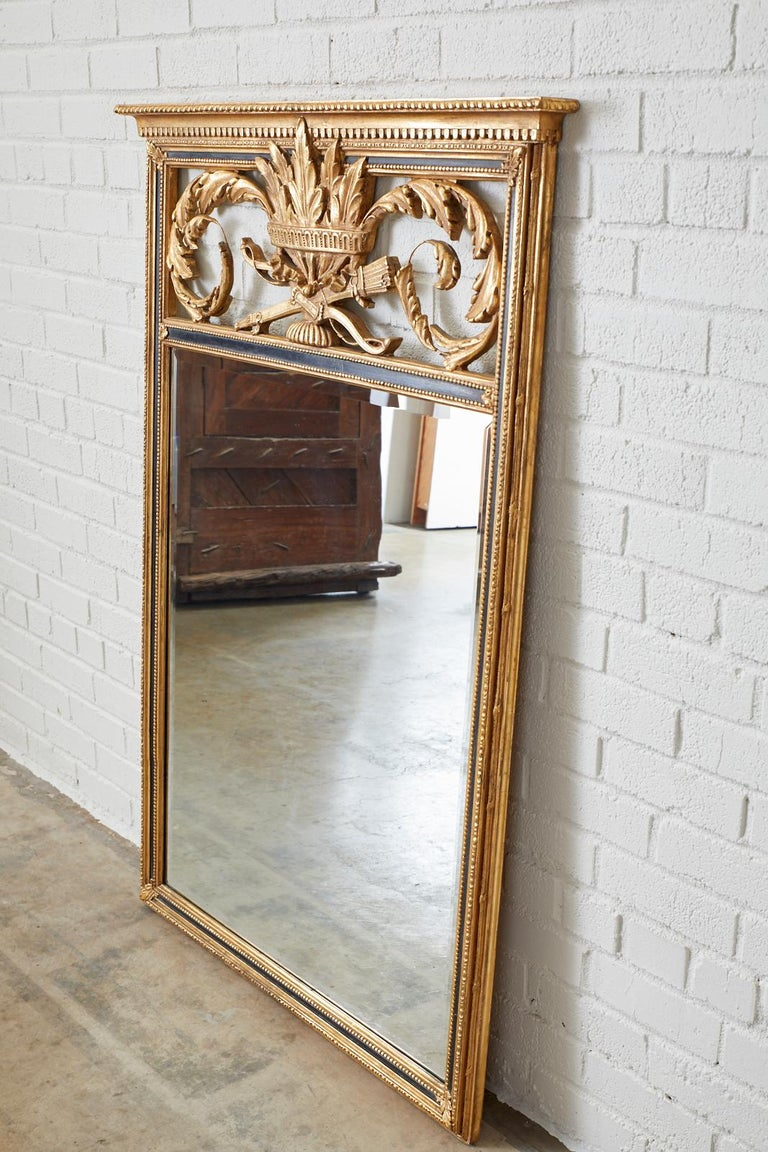 American French Louis XVI Style Giltwood Mirror by Friedman Brothers For Sale