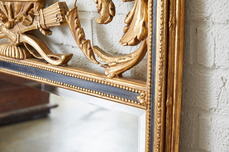French Louis XVI Style Giltwood Mirror by Friedman Brothers In Good Condition For Sale In Oakland, CA