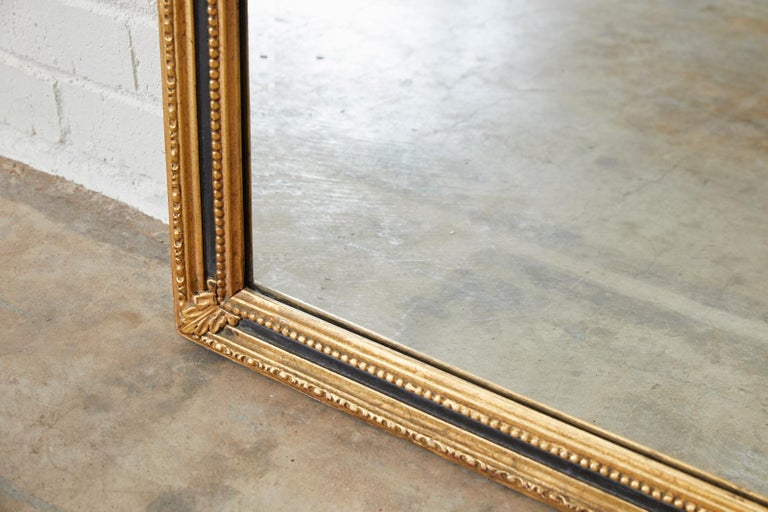 Metal French Louis XVI Style Giltwood Mirror by Friedman Brothers For Sale