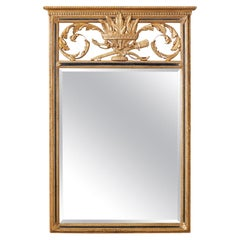 French Louis XVI Style Giltwood Mirror by Friedman Brothers
