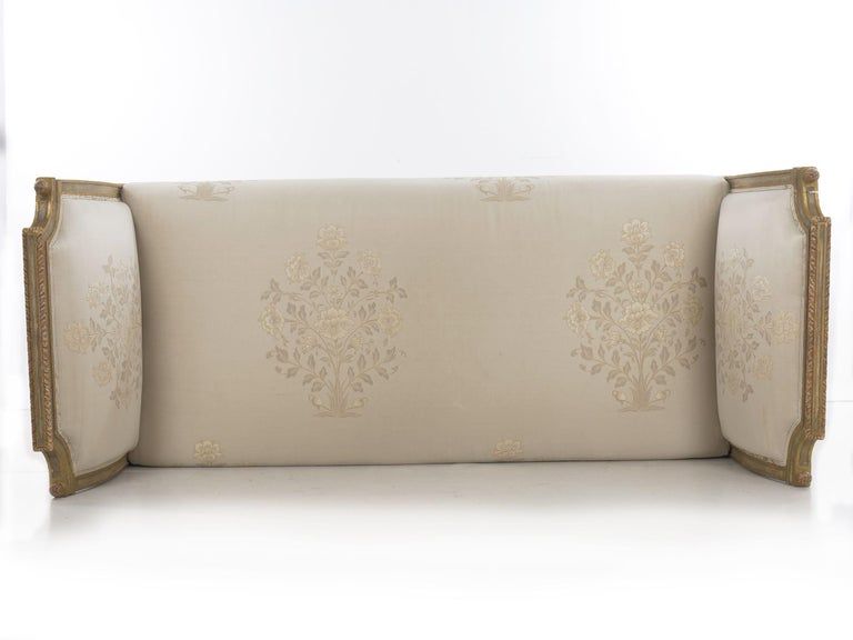 French Louis XVI Style Gray Painted Antique Daybed Sofa, circa 1880 For Sale 12