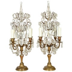 French Louis XVI Style Large Girandoles, a Pair