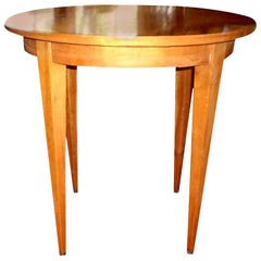 French Louis XVI Style Lemon Wood Table After Andre Arbus