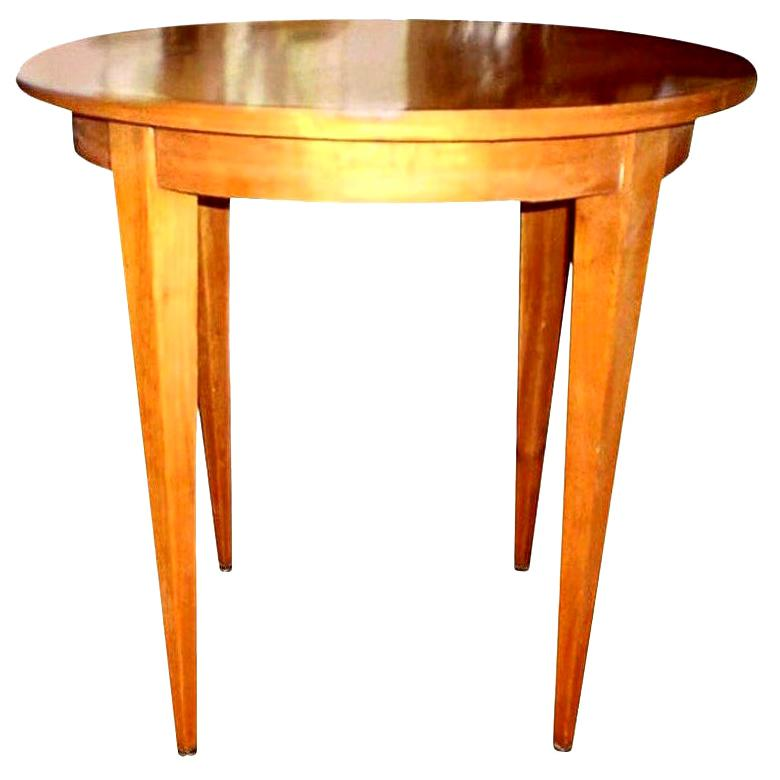 French Louis XVI Style Lemon Wood Table after André Arbus