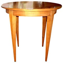 French Louis XVI Style Lemon Wood Table