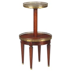 French Louis XVI Style Mahogany and Marble-Top Serving Table, 1940s