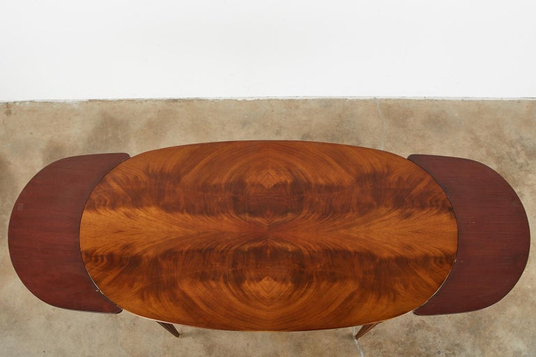 20th Century French Louis XVI Style Mahogany Dining Table with Leaves For Sale