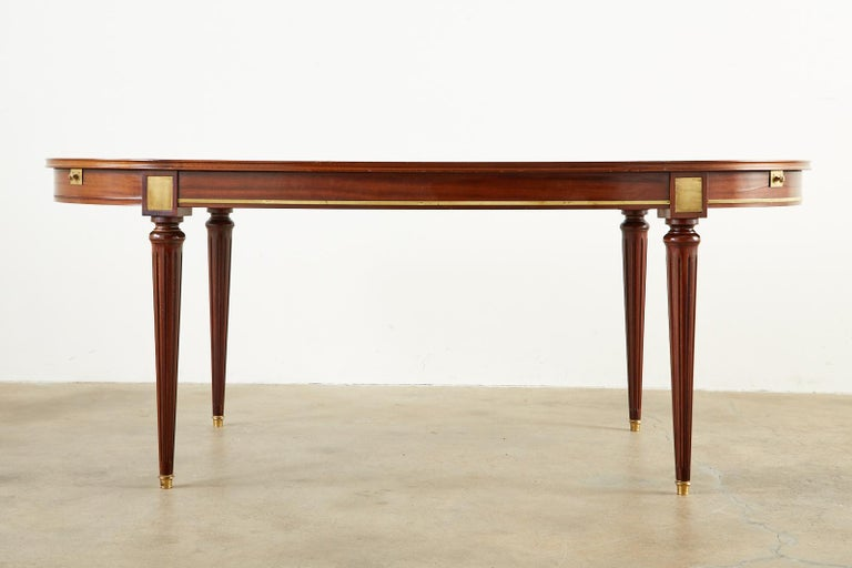 French Louis XVI Style Mahogany Dining Table with Leaves For Sale 2