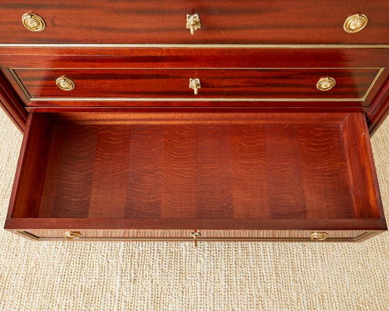 French Louis XVI Style Mahogany Marble-Top Commode Dresser  For Sale 12