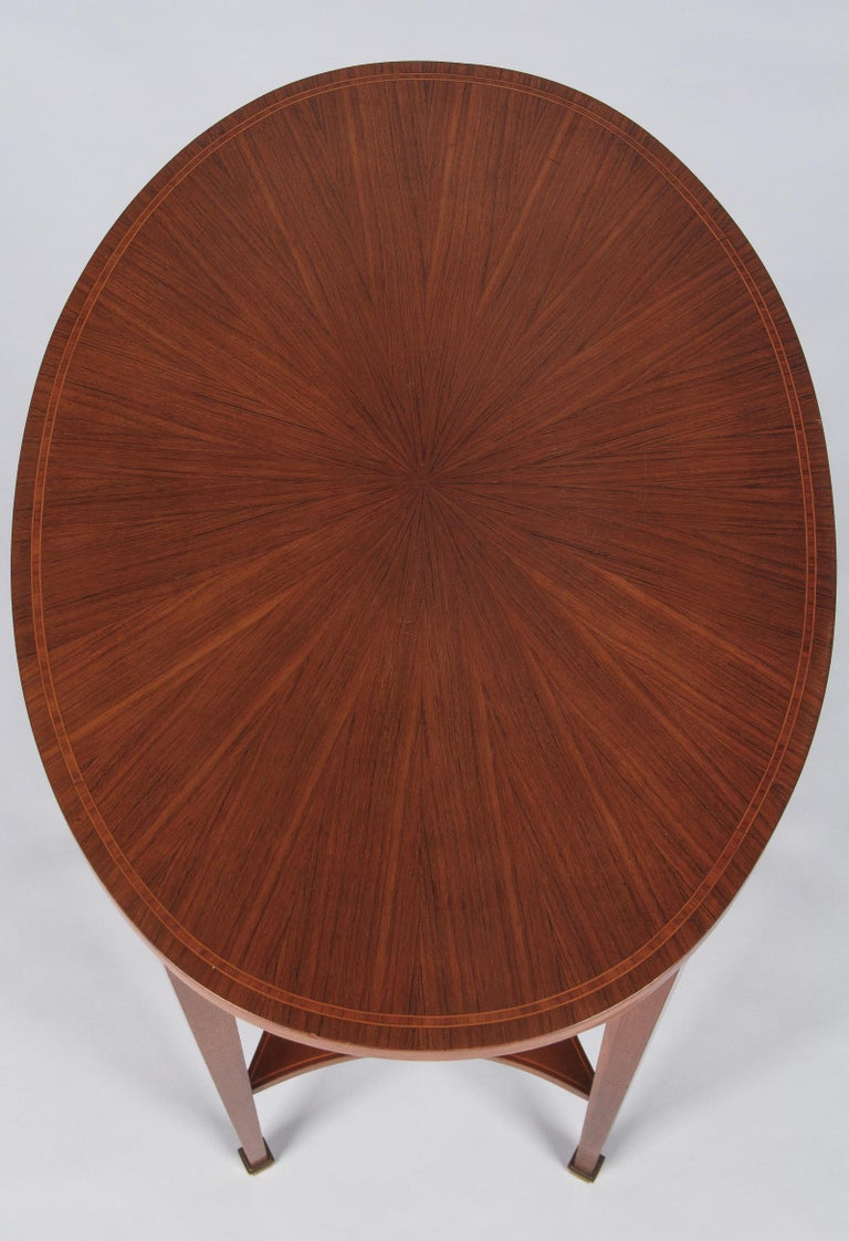 French Louis XVI Style Mahogany Side Table, Early 1900s For Sale 4