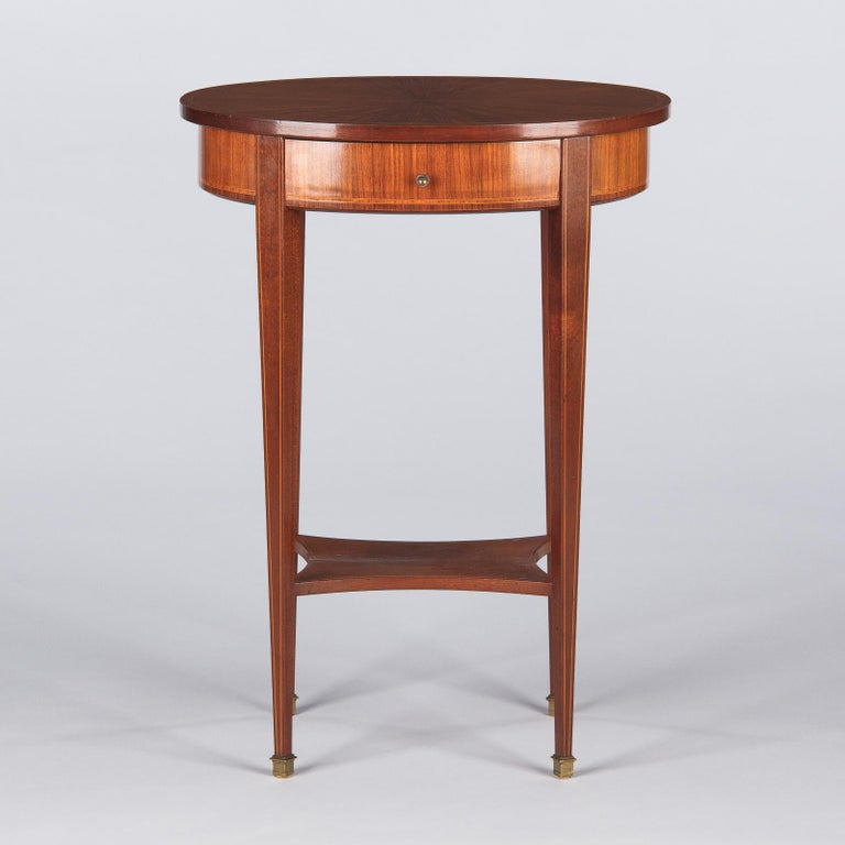 French Louis XVI Style Mahogany Side Table, Early 1900s For Sale 5