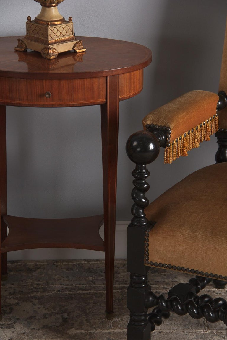 French Louis XVI Style Mahogany Side Table, Early 1900s For Sale 6