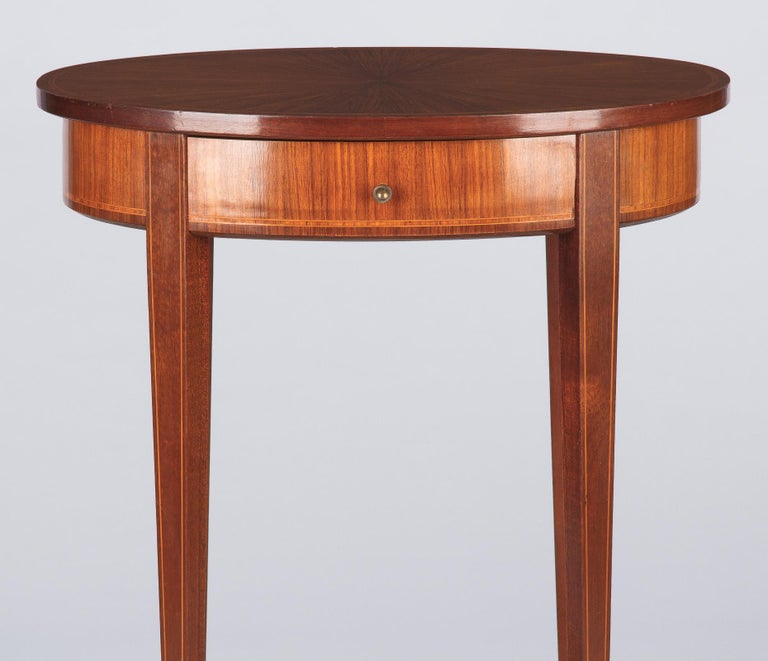 French Louis XVI Style Mahogany Side Table, Early 1900s For Sale 7