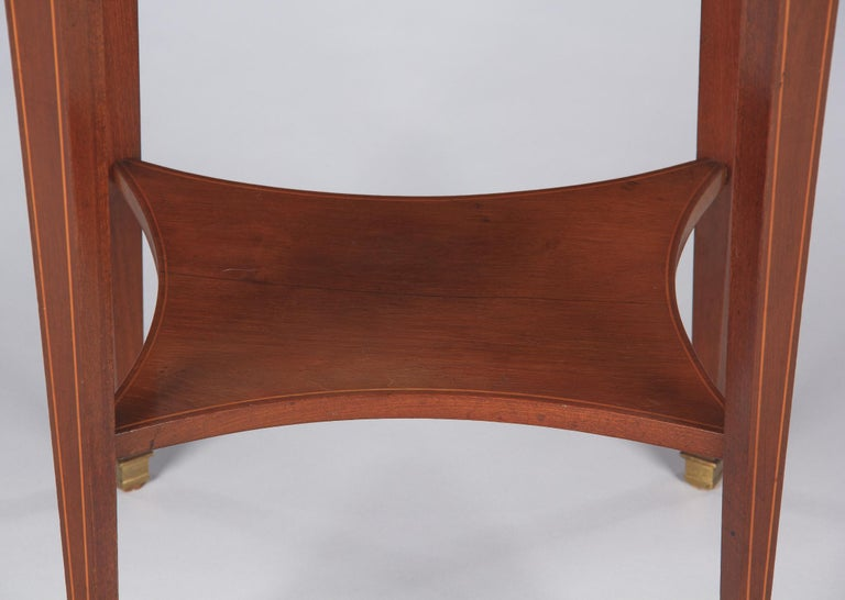 French Louis XVI Style Mahogany Side Table, Early 1900s For Sale 8