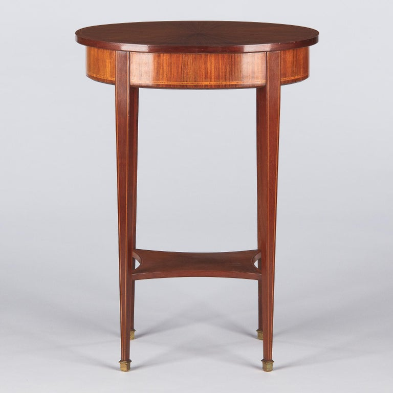 French Louis XVI Style Mahogany Side Table, Early 1900s For Sale 9