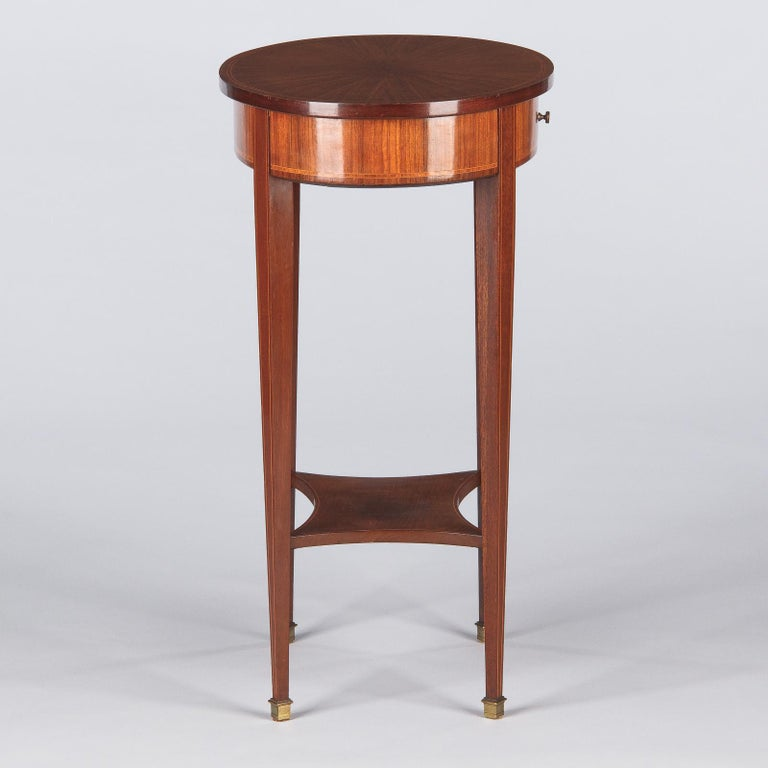 French Louis XVI Style Mahogany Side Table, Early 1900s For Sale 10