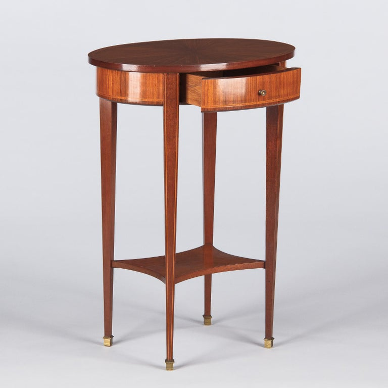 French Louis XVI Style Mahogany Side Table, Early 1900s For Sale 12