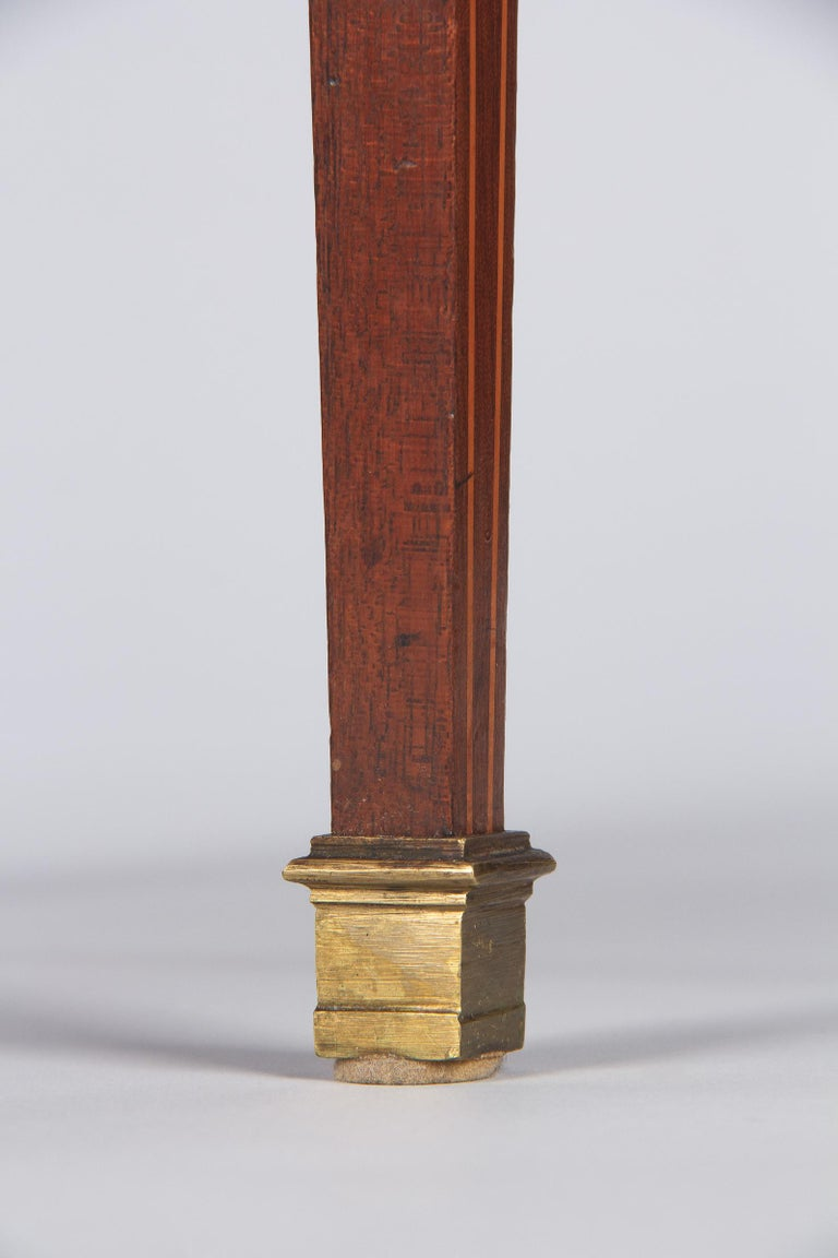 French Louis XVI Style Mahogany Side Table, Early 1900s For Sale 13