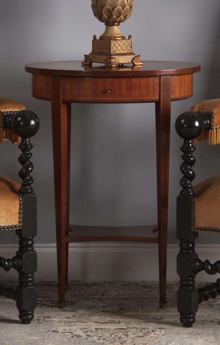 French Louis XVI Style Mahogany Side Table, Early 1900s For Sale 14