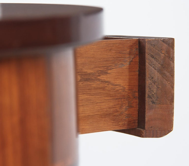 Fruitwood French Louis XVI Style Mahogany Side Table, Early 1900s For Sale