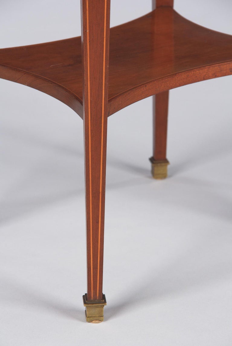 French Louis XVI Style Mahogany Side Table, Early 1900s For Sale 1