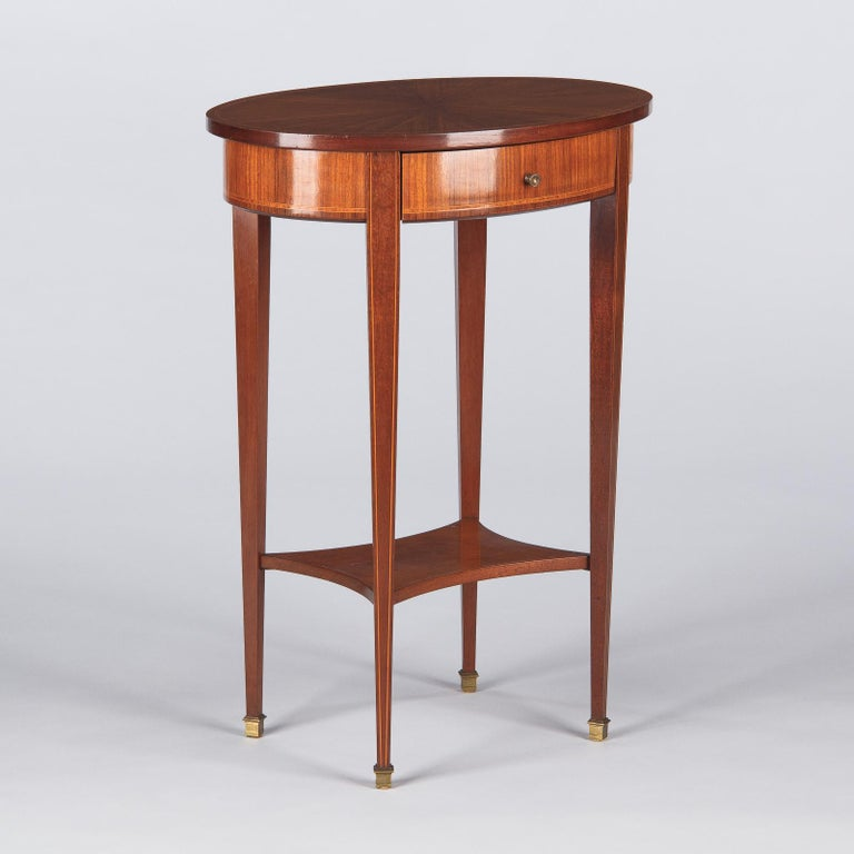 French Louis XVI Style Mahogany Side Table, Early 1900s For Sale 2