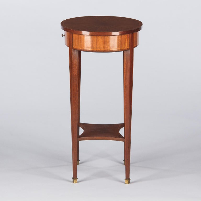 French Louis XVI Style Mahogany Side Table, Early 1900s For Sale 3