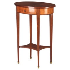 French Louis XVI Style Mahogany Side Table, Early 1900s