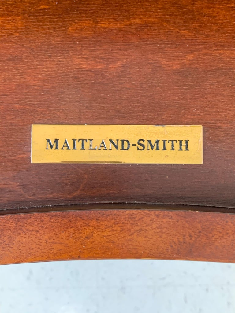 French Louis XVI Style Maitland-Smith Mahogany Desk or Writing Table For Sale 5