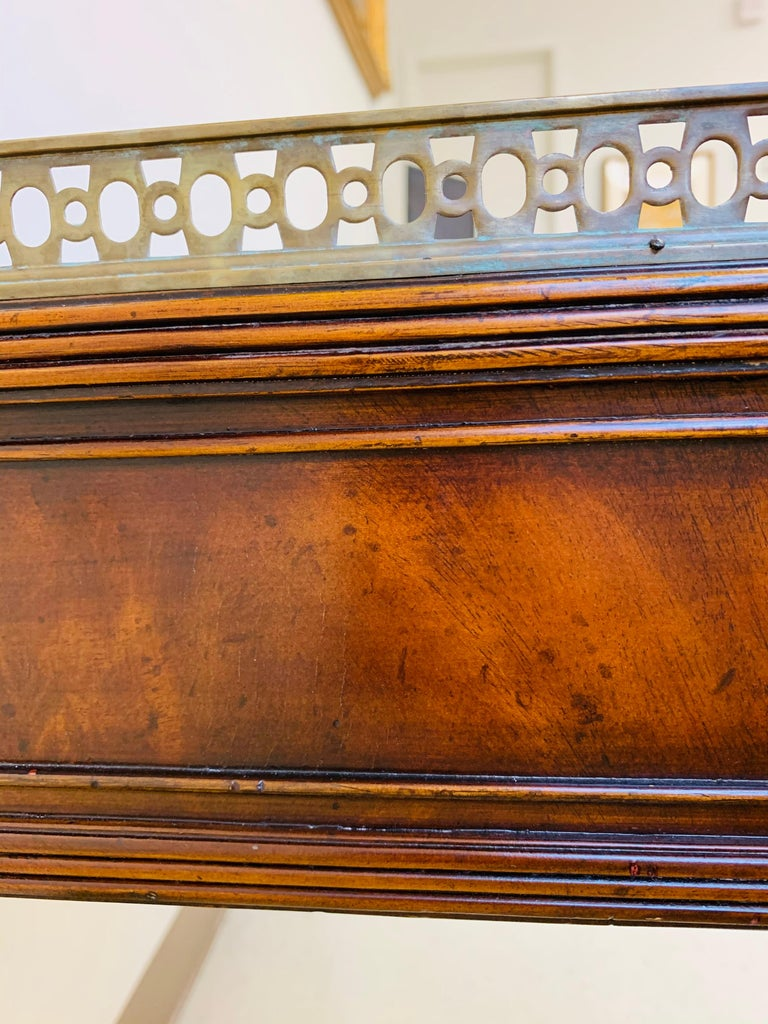 French Louis XVI Style Maitland-Smith Mahogany Desk or Writing Table For Sale 11