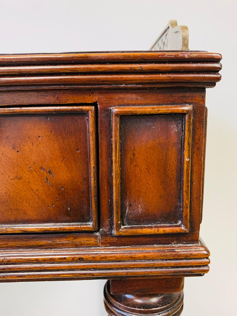 French Louis XVI Style Maitland-Smith Mahogany Desk or Writing Table For Sale 13
