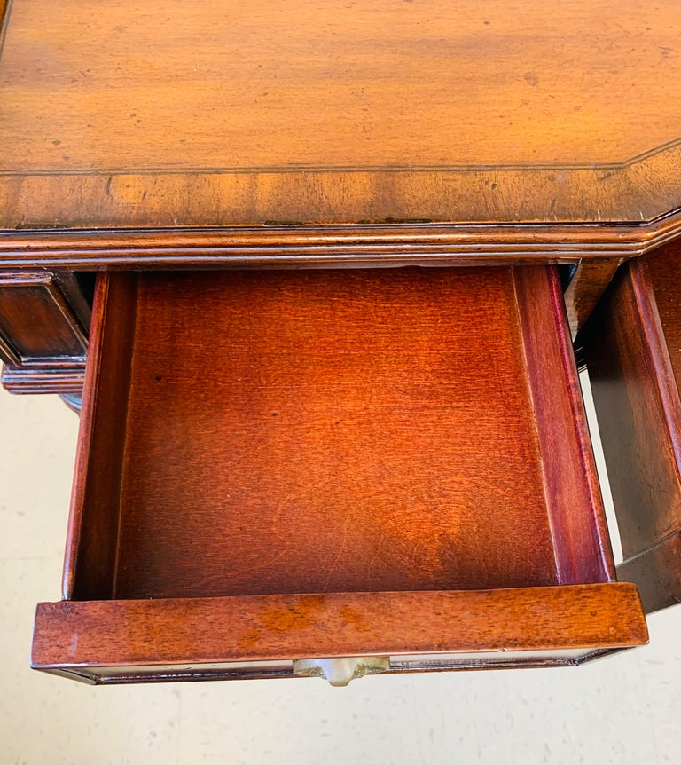 French Louis XVI Style Maitland-Smith Mahogany Desk or Writing Table For Sale 1