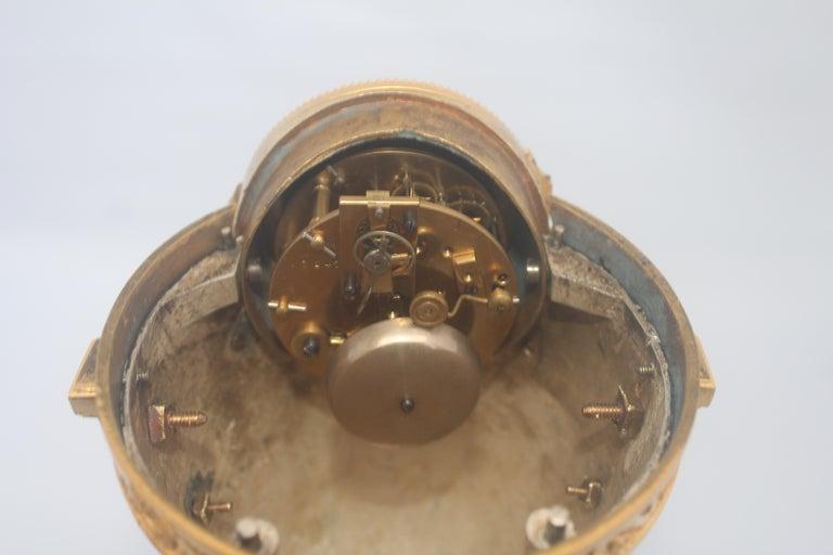 French Louis XVI Style Mantel Clock by Eugène Hazart, À Paris For Sale 7