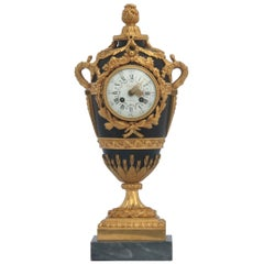 French Louis XVI Style Mantel Clock by Eugène Hazart, À Paris