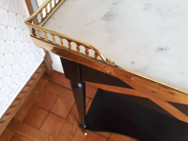 French Louis XVI Style Marble Nightstand For Sale 7