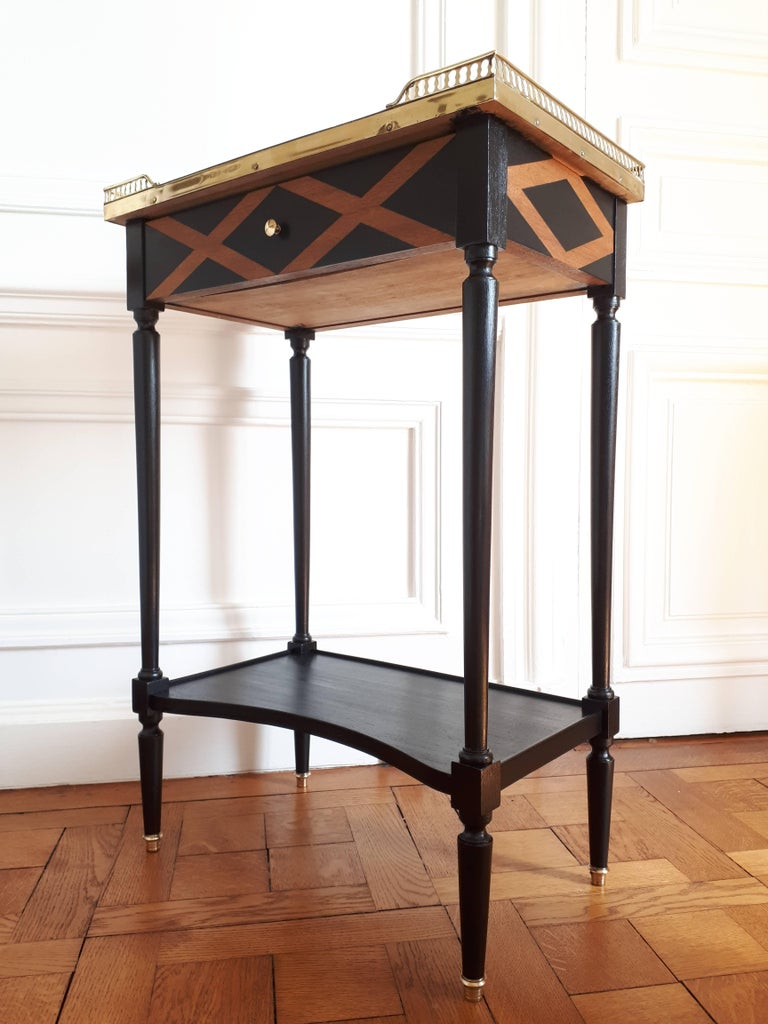 French Louis XVI Style Marble Nightstand For Sale 9