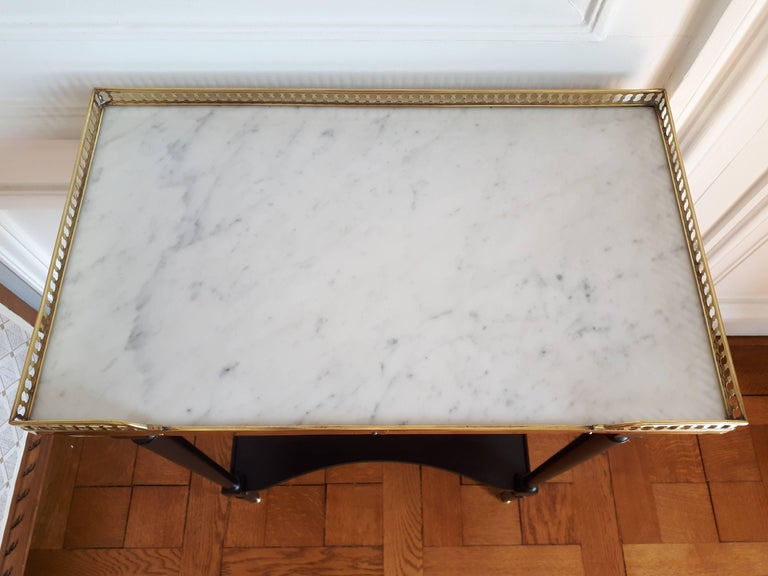 French Louis XVI Style Marble Nightstand For Sale 5