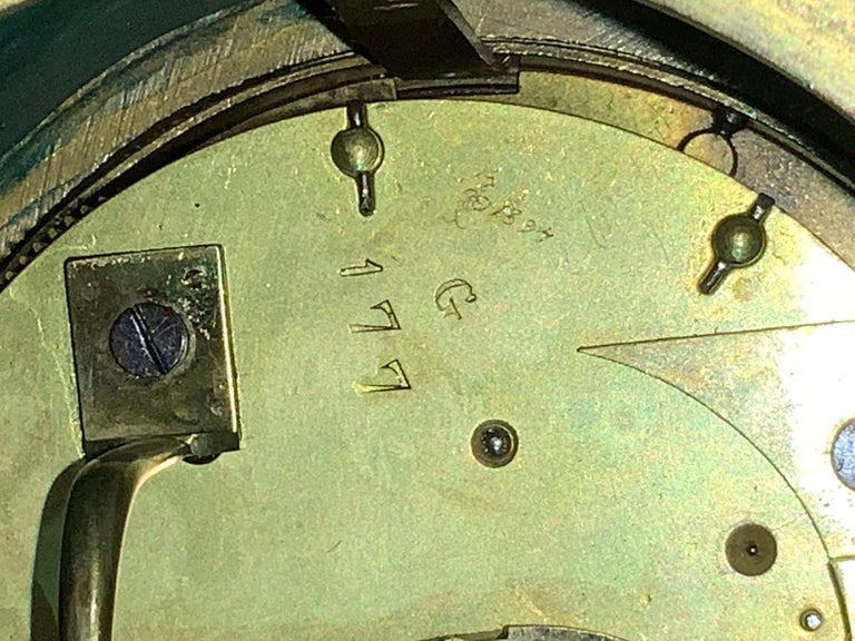 French Louis XVI Style Napoleon III Bronze Mounted Malachite Mantel Clock For Sale 6