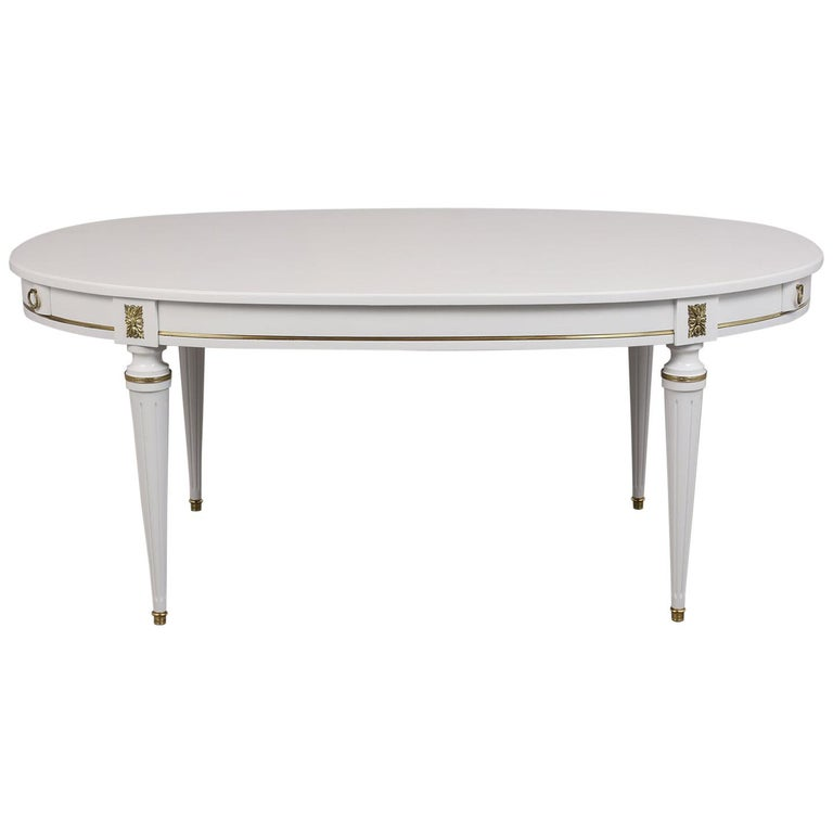 French Louis XVI Style Oval Dining Table For Sale