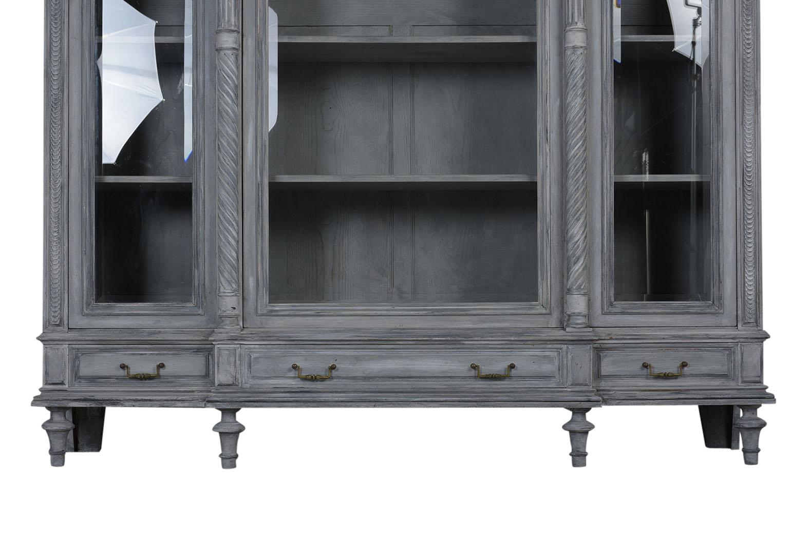 French Louis Xvi Style Painted Bookcase