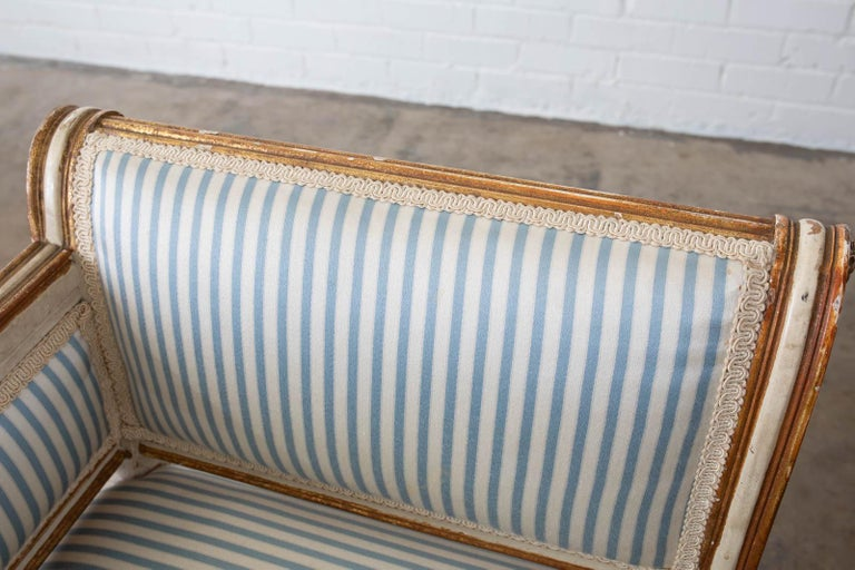 French Louis XVI Style Painted Window Bench Banquette For Sale 12