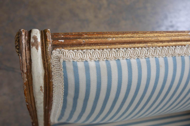 French Louis XVI Style Painted Window Bench Banquette For Sale 13